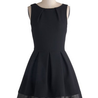 ModCloth LBD Mid-length Sleeveless Fit & Flare Luck Be a Lady Dress in Edgy