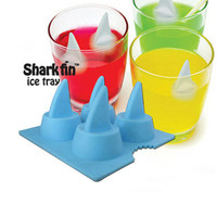 genuine creative ice sharks ice pattern of summer ice box silicone ice cube molds in summer by ClothLess