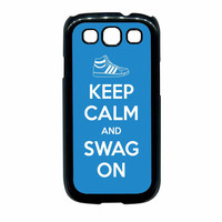 Keep Calm And Swag On Adidas Samsung Galaxy S3 Case