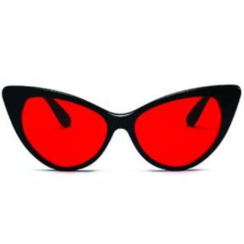 Brigade Black & Red Cat-Eyed Sunglasses