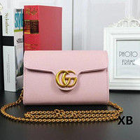 Gucci Women Fashion Trending Leather Satchel Bag Shoulder Bag Crossbody Pink G