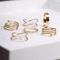 Knuckle Midi Ring Set
