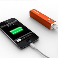Jackery Mini Premium 3350mAh Portable Charger - External Battery Pack, Power Bank, & Portable iPhone Charger for Apple iPhone SE, 6s, 6s Plus, 6, 5, iPad Pro, iPad Mini, Samsung Galaxy S7, S6, and S5 (Orange)