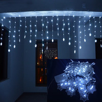 Lmid Holiday Lighting 4Mx0.6M Snowflake Xmas Party Fairy Colorful Garland LED Christmas Decoration String Light