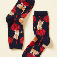 Knit One, Purr Two Socks | Mod Retro Vintage Socks | ModCloth.com