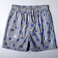 Balenciaga 2020 New Double B Printed Letter Beach Shorts