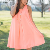 Can't Miss This Dress, Neon Coral