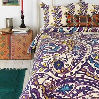 Magical Thinking Paisley Sketchbook Duvet Cover- Multi