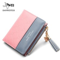DWTS women wallet with zipper 2018 pink small women wallets soft  clutch luxury brand wallets designer purse women wallets