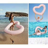 Red Love Floating Row of Seats Adult Oversized 120cm Heart Shaped Swim Ring of Water Toys