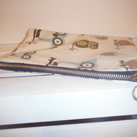 Large Owl Zippered Bag/ Pouch