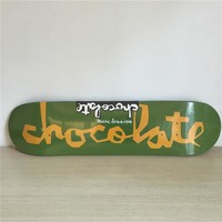 "Chocolate 8"" Canadian Maple Green Skateboard Deck"