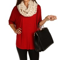 Sale-red Oversize Comfy Tee