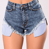 In My Pocket Denim Shorts - Dark Blue