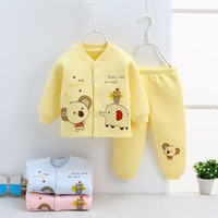winter Baby Set Clothes Boy new Kids Girls Clothing Sets Newborn Cotton Pajamas Suit Baby warm Tracksuit Infant underwear Outfit