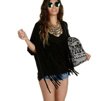 Promo-black Take Me To The West Fringe Top