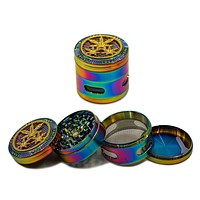 "Rainbow Bling Grinder w/ Window - (2.5"")(63mm)"