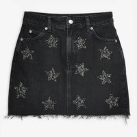 Star Gem Denim Skirt | Topshop