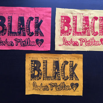 1 Black Lives Matter Patch for BLM Fundraiser (in Various Colors)