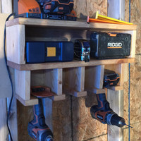 Tool Station / Drill Holder - Great gift idea