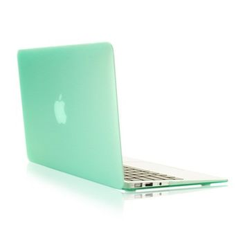 """TopCase Rubberized Hard Case Cover for Macbook Air 13"""" (A1369 and A1466)with TopCase Mouse Pad (GREEN)"""