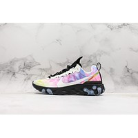 Nike Wmns React Element 55 Tie Dye Running Shoes