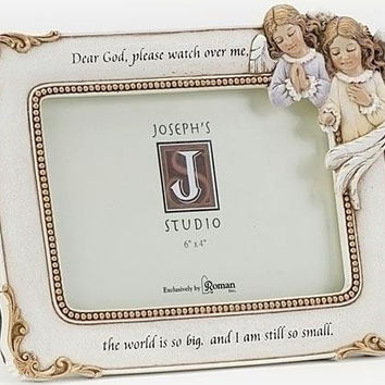 """2 Angel Picture Frames - 6.25 """" H X 8.25 """" W X 0.75 """" D"""