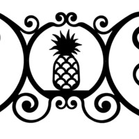 Wrought Iron Pineapple Over Door Plaque