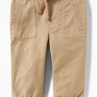 Twill Pull-On Joggers for Baby|old-navy