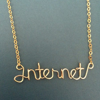 Internet Necklace - Gold