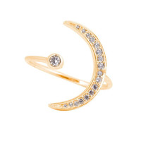 Lucky Star || New moon ring in gold