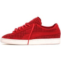 Suede Courtside Perf Sneakers High Risk Red