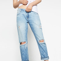 RELAXED-FIT RIPPED JEANS