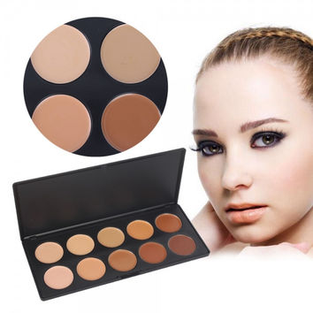 10 Color Professional Concealer Camouflage Cosmetic Makeup Palette