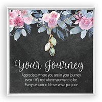 Your Journey  Birthstone Hearts Necklace