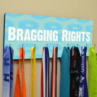 Hooked On Medals Hanger Bragging Rights | Running Medal Hangers | Running Medal Displays | Medal Displays for Runners