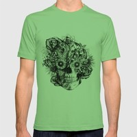 Floral Ohm skull from hand and digital illustration.  T-shirt by Kristy Patterson Design