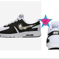Custom Crystal Blinged Out Women Nike Air Max Zero Shoes