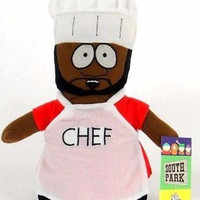 """Chef with apron 10"""" South Park Plush Doll Soft Stuffed Toy Figure Nanco-New!"""