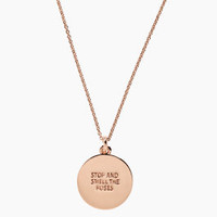 Stop and Smell the Roses Idiom Pendant - kate spade new york