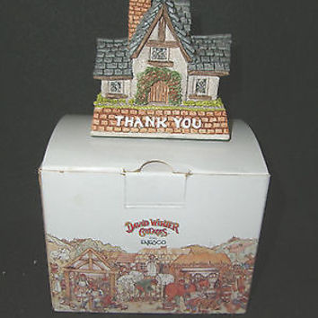 David Winter Cottages THANK YOU Gift 1997 Retired