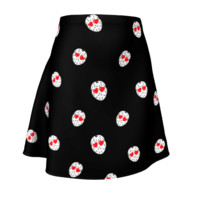 Friday the 13th I'm in Love Jason Flare Skirt