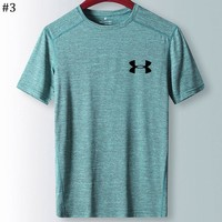 UA Under Armour 2018 new men's fitness running quick-drying short-sleeved T-shirt #3