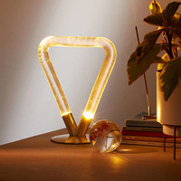 Helios Acrylic Triangle Table Lamp | Urban Outfitters