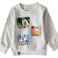 6-24month Hot baby girls boys cartoon mickey printing t-shirts childrens lovely minnie t shirts tees tops children's clothes