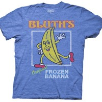 Arrested Development Distressed Bluth's Orignal Frozen Banana Royal Blue Heather Mens T-shirt - Arrested Development - Free Shipping on orders over $60 | TV Store Online