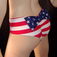 Stars and Stripes Bikini Bottoms with Bow