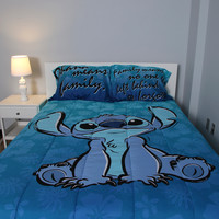 Disney Lilo & Stitch Floral Stitch Full/Queen Comforter