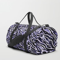 Abstract Lilac Duffle Bag by kasseggs