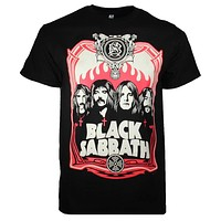 Sabbath Red Flames T-Shirt